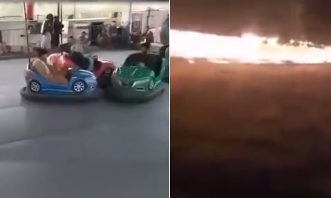 Taliban Torch Amusement Park After They Were Filmed Enjoying Bumper Cars the Day Before (VIDEO)